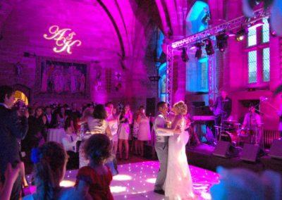 Wedding Lighting and Gobo Projection