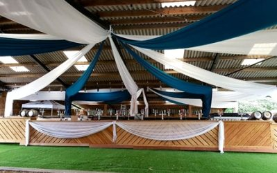 Ceiling Voile Draping